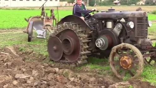 前苏联为何如此强大,看看他们70年前的老拖拉机,现在的马力