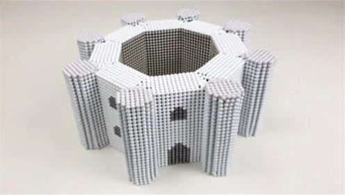 如何用磁力巴克球建造6角建筑模型?