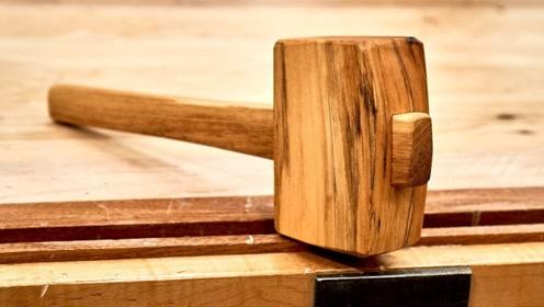 牛人精心打造一把木锤,成品让我眼前一亮,具备匠心精神!