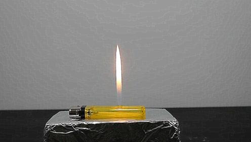把烧红的小铁球放在打火机上,会发生什么?结果让人想不到!