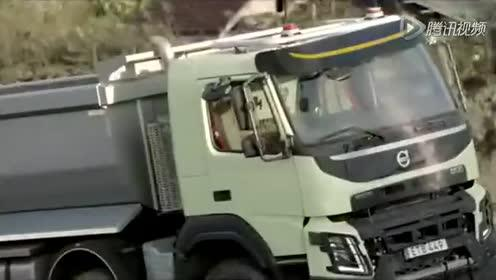 逆天之作 四岁女孩玩转18吨沃尔沃大卡车