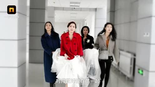 内蒙古呼和浩特:回门遇上返校,女研究生着婚纱报到