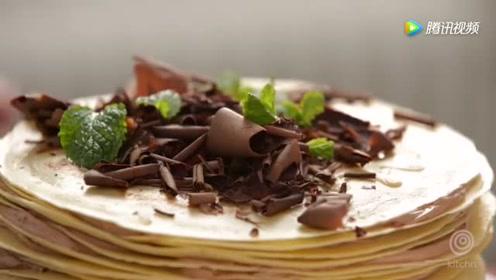 不用烤箱就能做的巧克力薄饼蛋糕