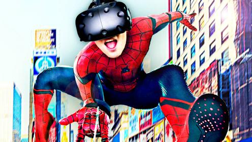 屌德斯解说 VR蜘蛛侠模拟器 变身漫威超级英雄实验高科技装备