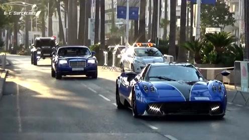 阿拉伯土豪开顶级超跑戛纳街头扎堆拉风!不改装不好意思出来