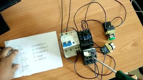 点动按钮控制接触器自锁启停电路
