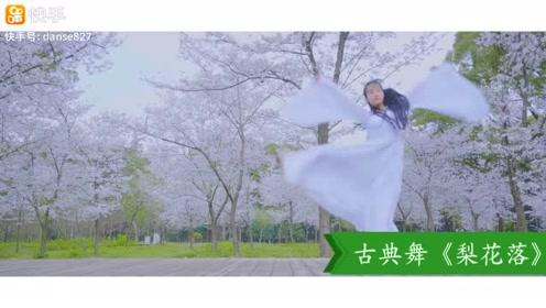 一身白衣,花间飞舞《梨花落》