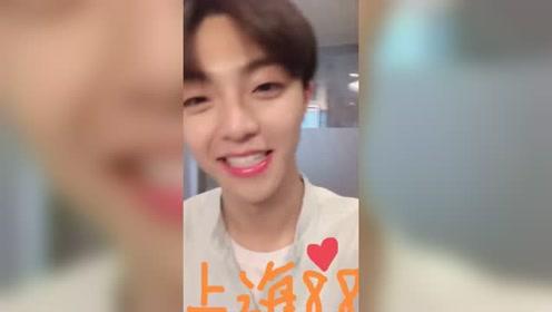 陈立农发自拍视频 招牌式笑容引发恋爱气息