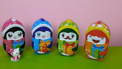 可爱的宝贝奇趣蛋里的惊喜玩具
