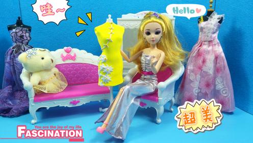幼儿益智彩泥制作 芭比公主的漂亮旗袍