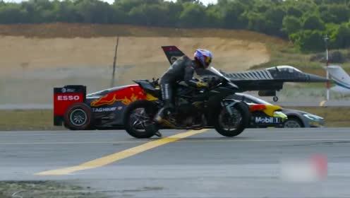 超级摩托车赢了战斗机,飞机和一级方程式赛车