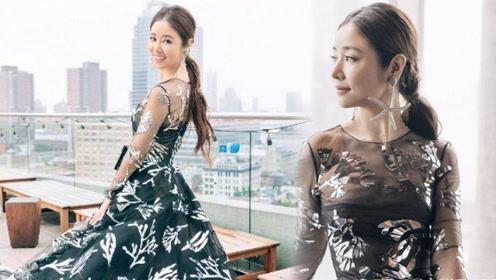 被林心如惊艳了一身印花裙仙女造型美爆了 感觉我又恋爱了