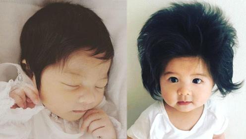 有4万人羡慕这个仅仅6个月大的女孩头发,原来颜值也这么美!