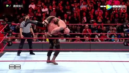 WWE比赛,两个加起来快一千斤的人,这样的大块头竟然还能这样摔!