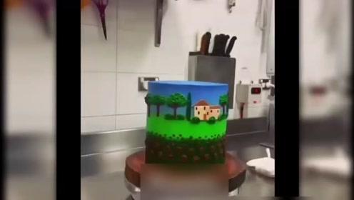在蛋糕上这样作画可真不是一般人能做到的