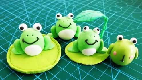 可爱的小青蛙,呱呱呱,diy创意手工超轻粘土制作