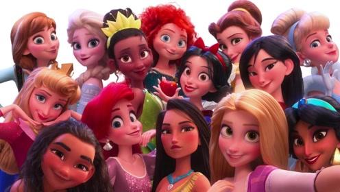 《无敌破坏王2:大闹互联网》花絮,云妮和迪士尼公主合照