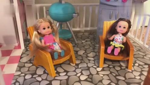 芭比娃娃之家,玩具房客厅,浴室厨房,卧室,简直就是豪华版别墅