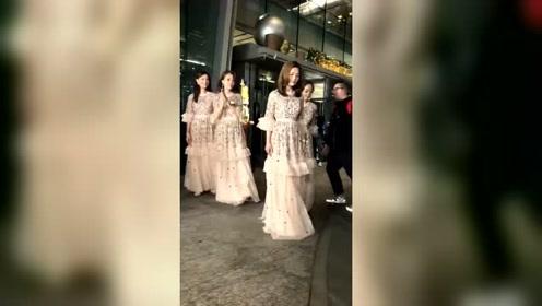 阿娇结婚现场:甜蜜热吻3连拍,伴娘团颜值爆表