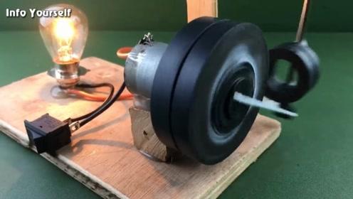 用磁铁制作自由能发电机,老外动手能力好强!