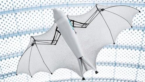 超逼真仿生蝙蝠机器人,能自行控制飞行方向角度,像真的一样灵活