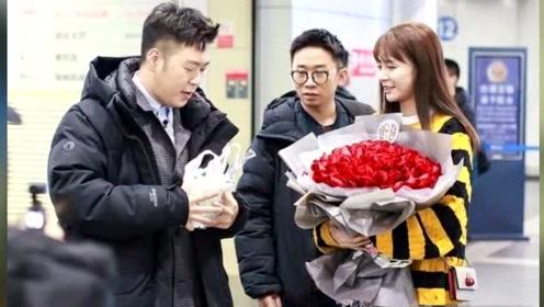 杜海涛机场求婚女友?旁边杨迪当电灯泡,沈梦辰一脸甜笑