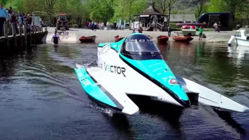捷豹造世界最快电动快艇,全电力驱动时速142公里,快艇中的超跑