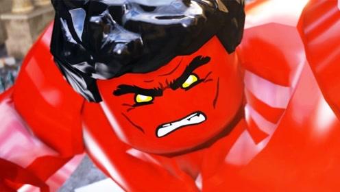漫威乐高,红浩克对抗钢铁侠,再现电影打斗场面,不一样的精彩