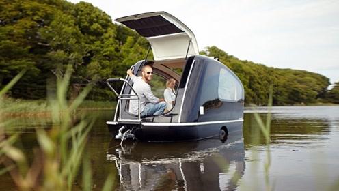 终极拖挂房车,还能像游艇一样在海上行驶,真的是脑洞大开!