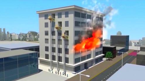 高楼火灾不再可怕,70多岁老人发明逃生布袋,一分钟能救20人!