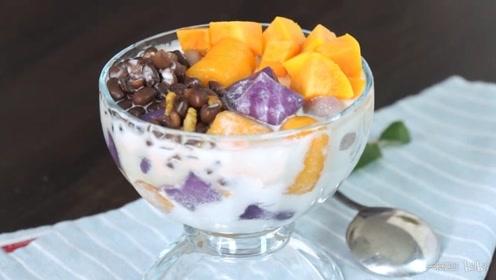 这样的芋圆水果冰,我能吃三大碗!