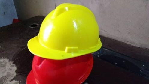 小伙五元收购破旧安全帽 一番改造后 价值不可估量
