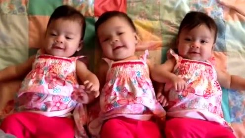 三胞胎小宝宝太好哄了,妈妈假装喷嚏,三个宝宝立马笑开了花!