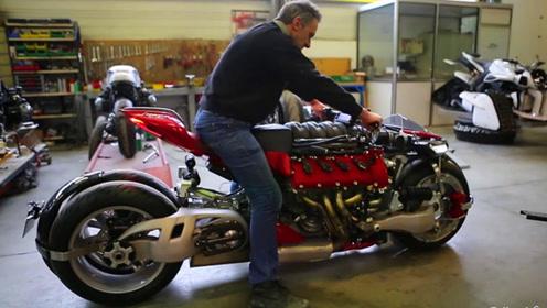 4个轮子的摩托车见过吗?艺术家先造飞车又造它,太秀了!