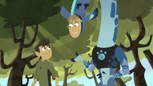 动物兄弟:马丁发现了一只奇怪的长颈鹿,脖子上挂了很多东西