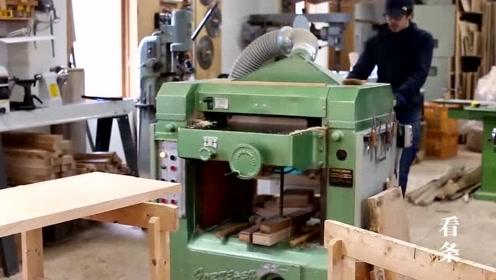 木工自己做工作台,真细致