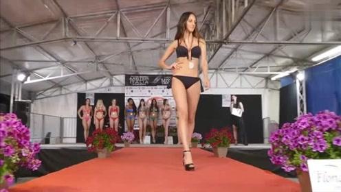 纽约站世界小姐大赛泳装秀,模特时尚性感,太漂亮了!