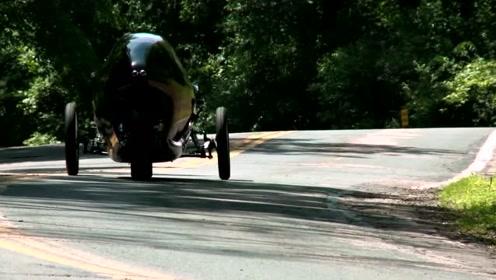 """全球最快""""人力三轮车""""纯靠脚蹬,时速160公里,代替传统汽车"""