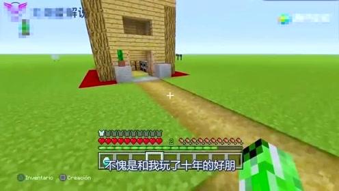 我的世界:大草原上的神秘房子!里面会有什么?大白替你看一看!