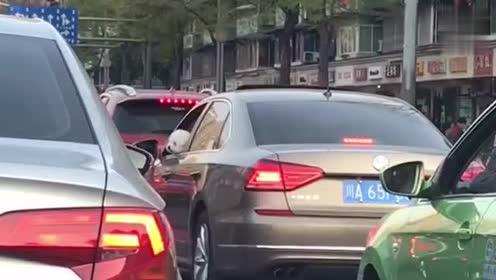 女司机又出来作妖了,太危险了,这才是遛狗的最高境界!