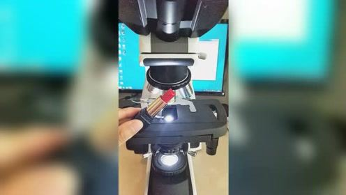 放大100倍,显微镜下的口红是怎样的?