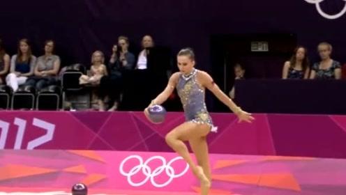 伦敦奥运会艺术体操个人全能,白俄罗斯美女高难度表演吸人眼球!