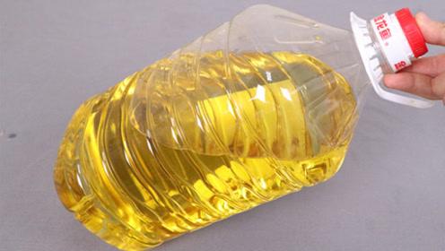 厨房油壶谁还买,一个塑料瓶立马自制倒油神器,倒油方便又省钱