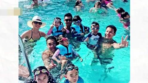 陈小春应采儿带儿子度假 Jasper与伙伴泳池戏水超萌