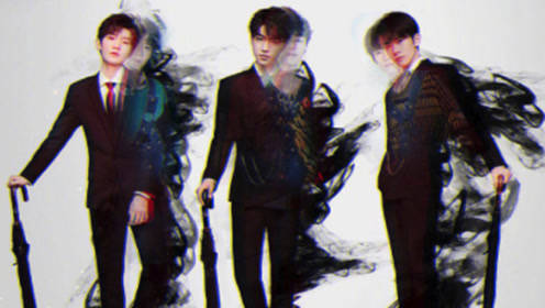 TFBOYS六周年演唱会海报,王俊凯,王源,穿西服拿伞A爆了