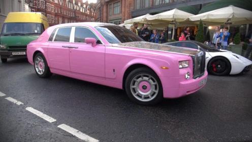 香车配美人!迪拜富豪中的富豪,400万劳斯莱斯抵不上一匹马!