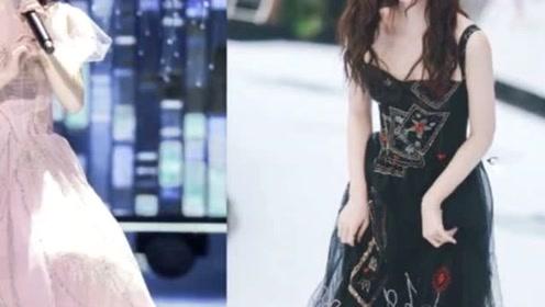 159鞠婧祎厉害了,一天换俩套薄纱裙,不同风格但同样惊艳