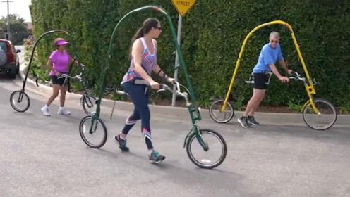 """老外发明""""奇葩""""自行车,没有链条和脚蹬,速度却快得飞起"""