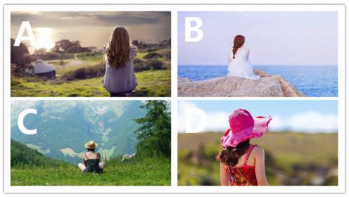 心理测试:你觉得哪个女孩子的背影最孤独?测你是否孤独