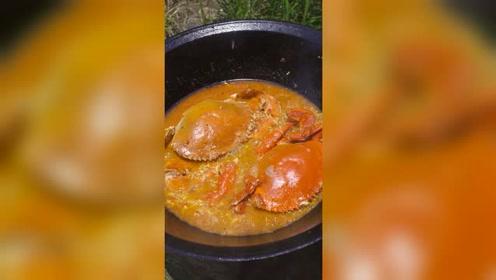 色泽诱人,肉质肥美,个头超大!你吃过比这更美味的蟹吗?
